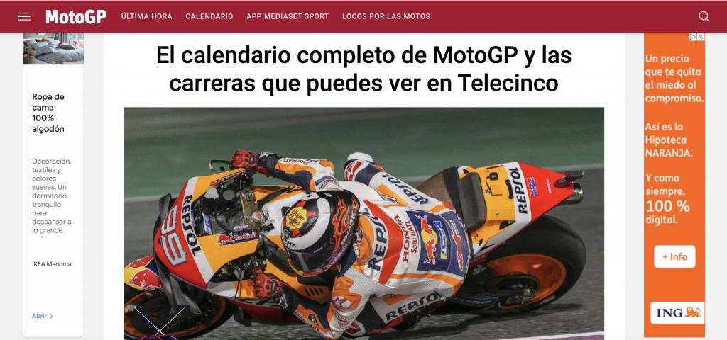 Telecinco Moto GP