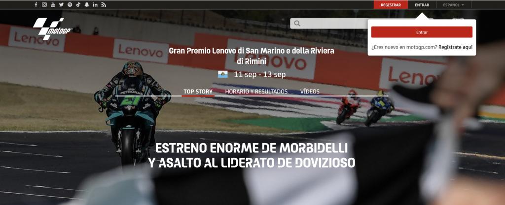 Web oficial MotoGP